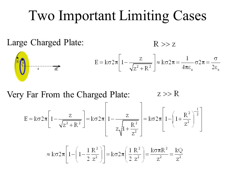 Two Important Limiting Cases