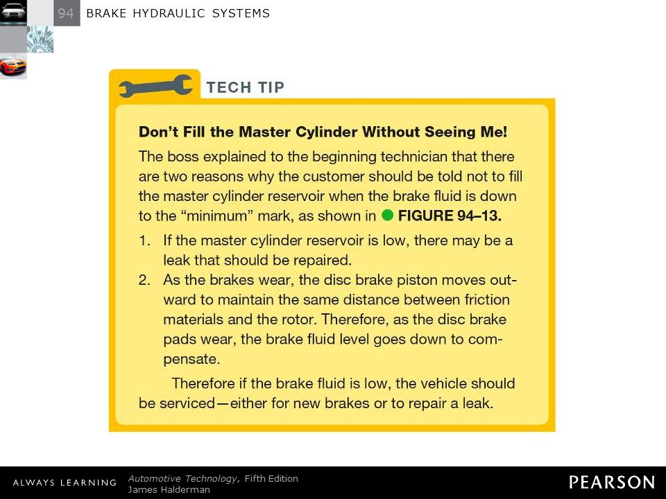 TECH TIP: Don't Fill the Master Cylinder Without Seeing Me