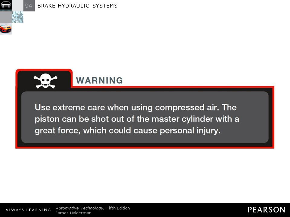 TECH TIP: WARNING Use extreme care when using compressed air