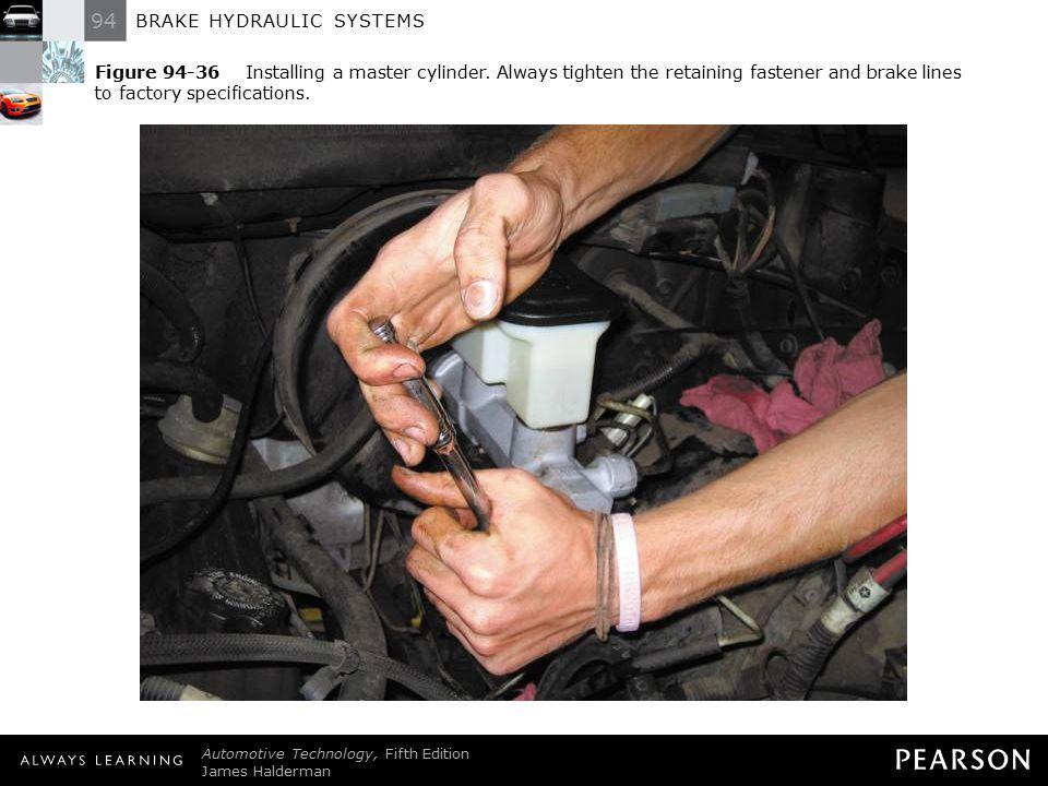 Figure 94-36 Installing a master cylinder