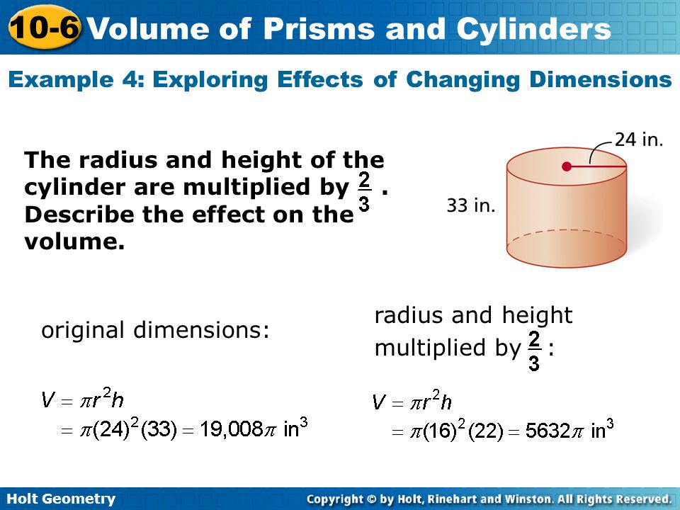 Example 4: Exploring Effects of Changing Dimensions