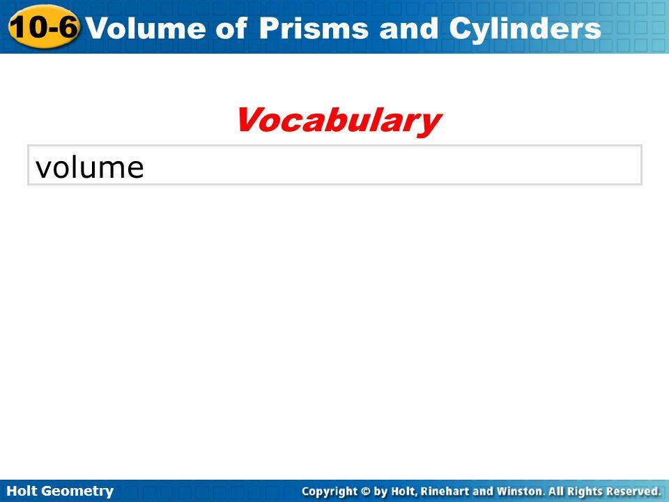 Vocabulary volume