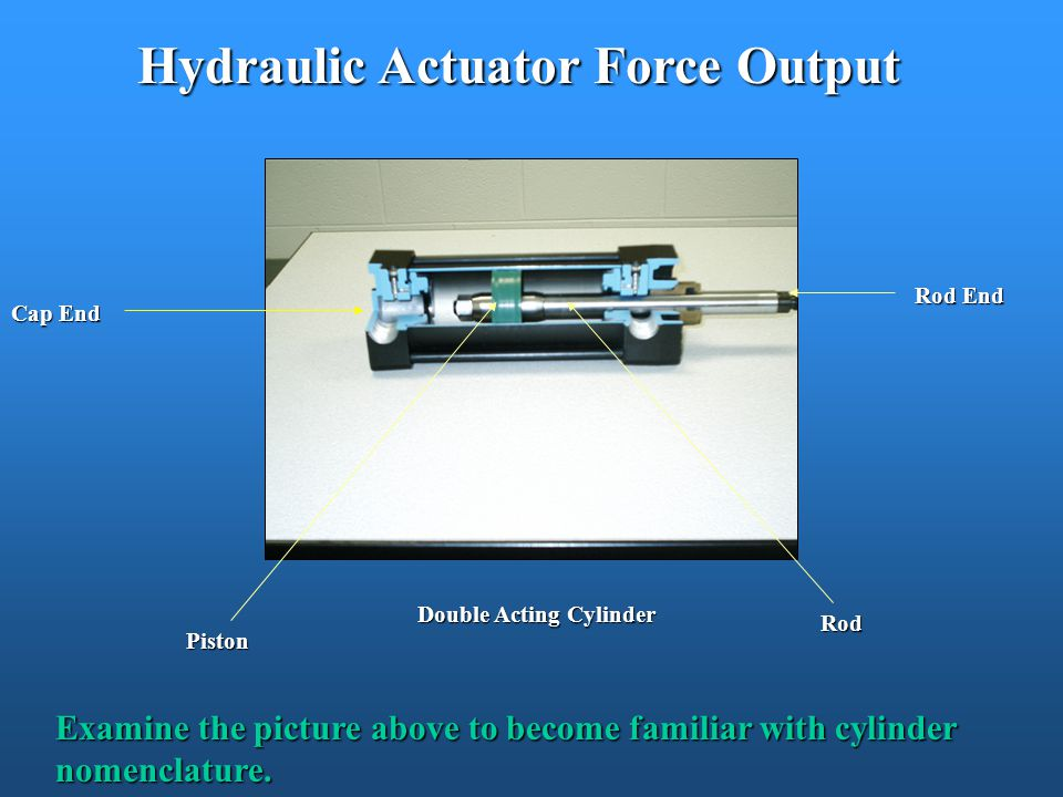 Hydraulic Actuator Force Output Double Acting Cylinder