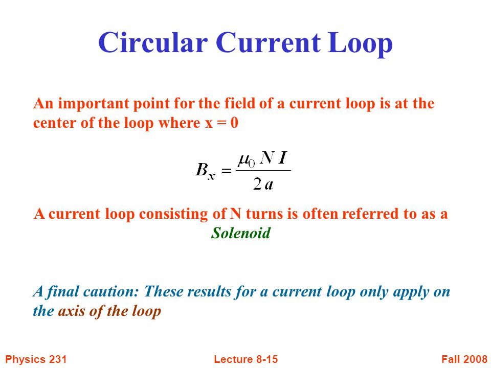 A current loop consisting of N turns is often referred to as a