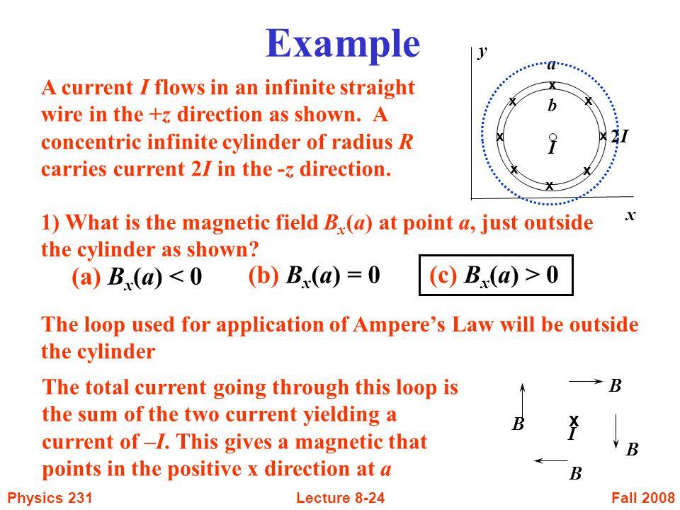 Example (a) Bx(a) < 0 (b) Bx(a) = 0 (c) Bx(a) > 0
