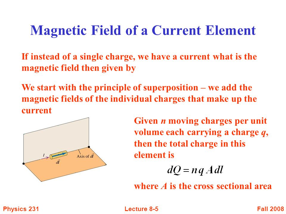 Magnetic Field of a Current Element
