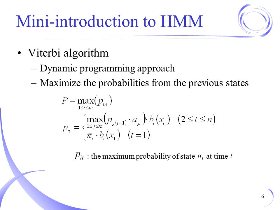 Mini-introduction to HMM