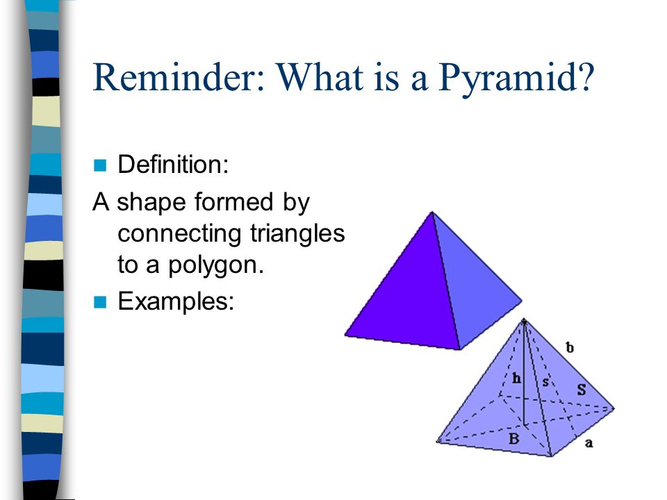 Reminder: What is a Pyramid