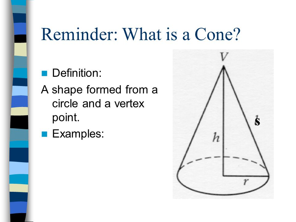Reminder: What is a Cone