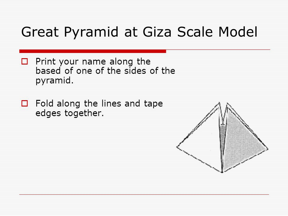 Great Pyramid at Giza Scale Model