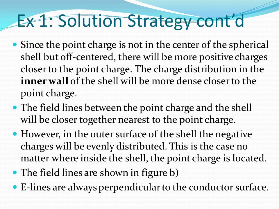 Ex 1: Solution Strategy cont'd