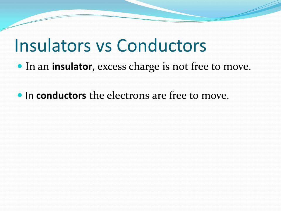 Insulators vs Conductors