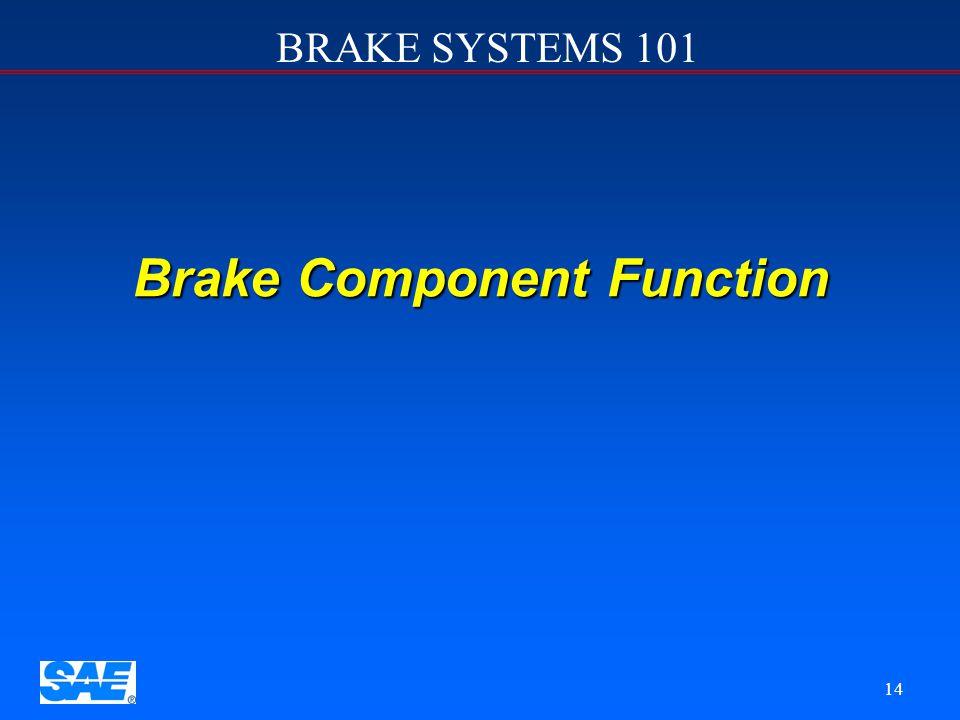 Brake Component Function