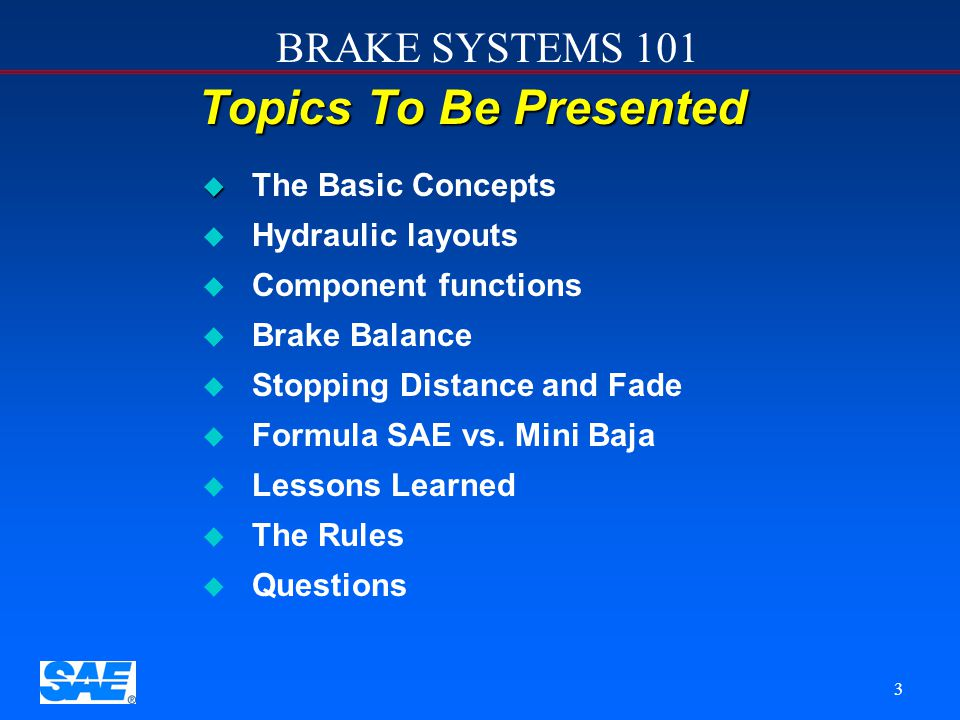 Topics To Be Presented The Basic Concepts Hydraulic layouts