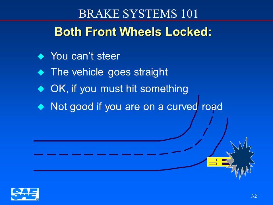 Both Front Wheels Locked: