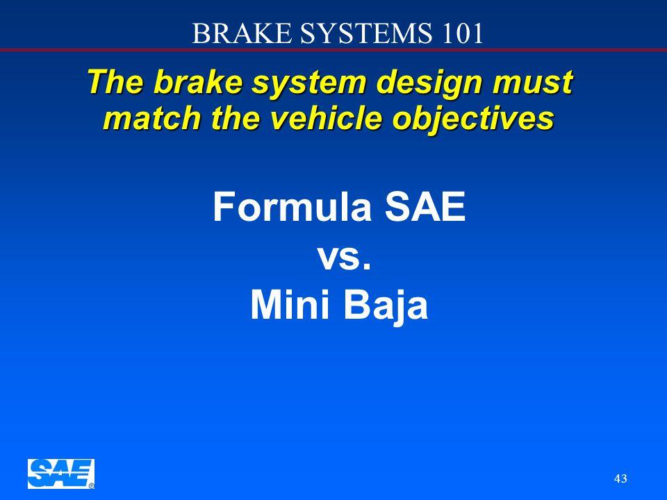 Formula SAE vs. Mini Baja