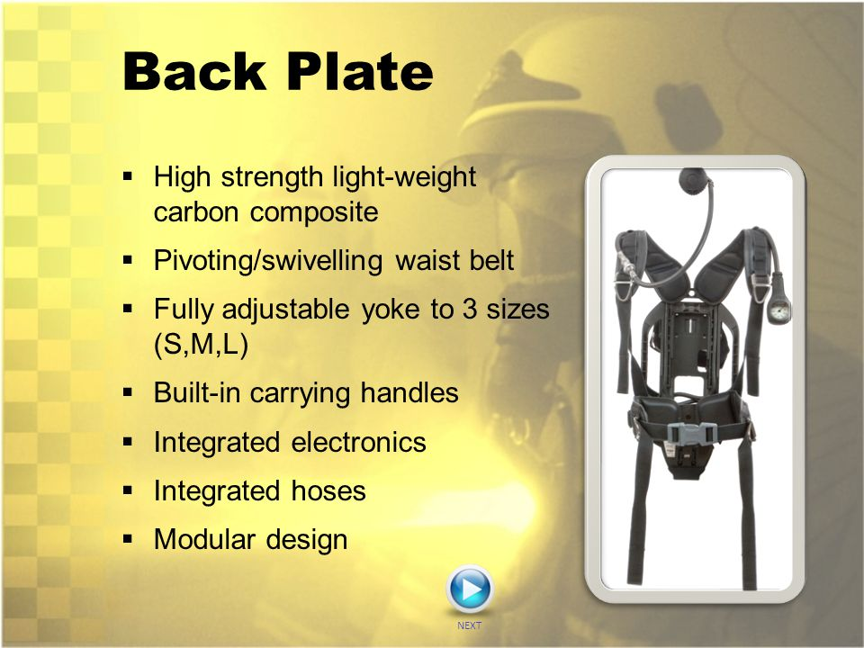 Back Plate High strength light-weight carbon composite