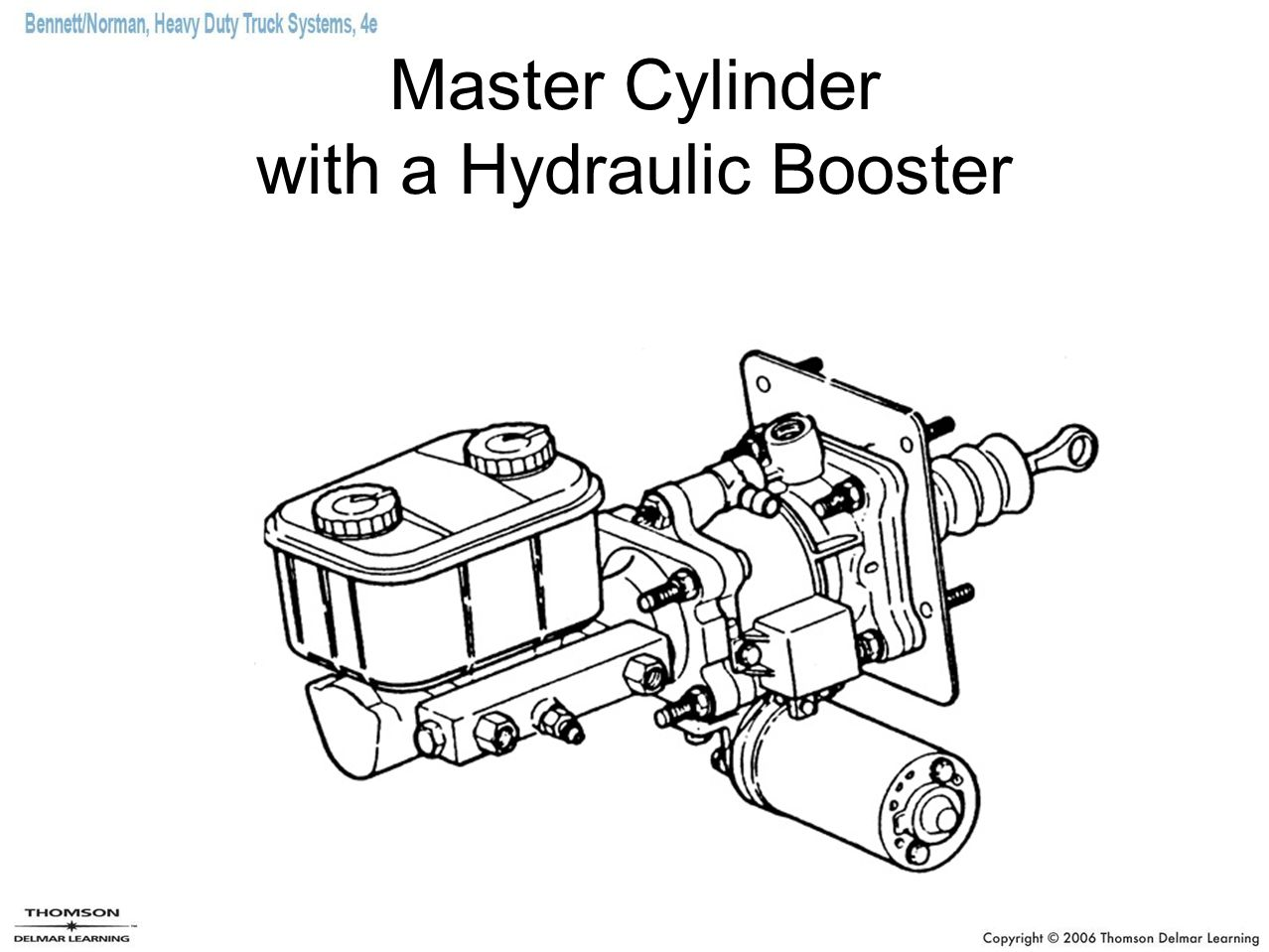 Master Cylinder with a Hydraulic Booster