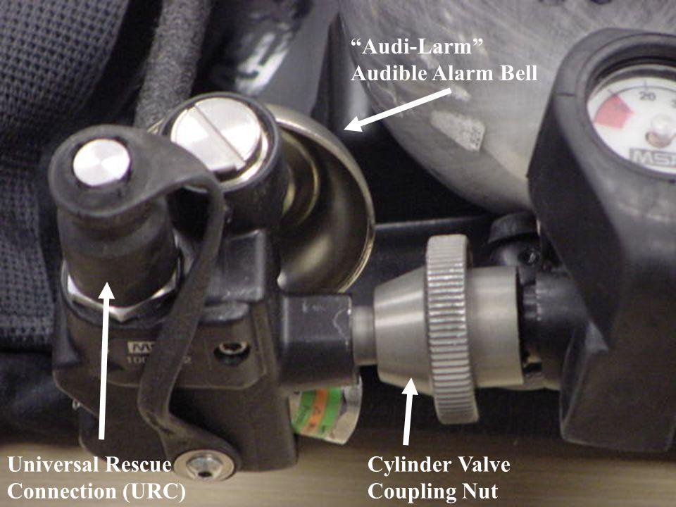 Audi-Larm Audible Alarm Bell Universal Rescue Connection (URC) Cylinder Valve Coupling Nut