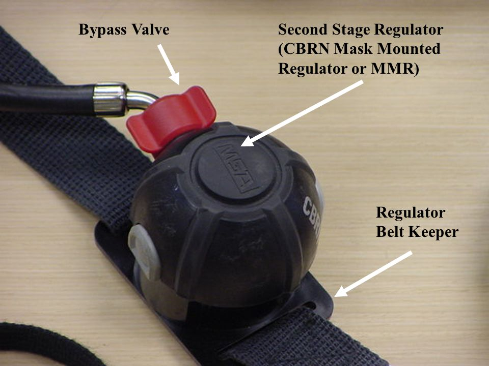 Bypass Valve Second Stage Regulator (CBRN Mask Mounted Regulator or MMR) Regulator Belt Keeper