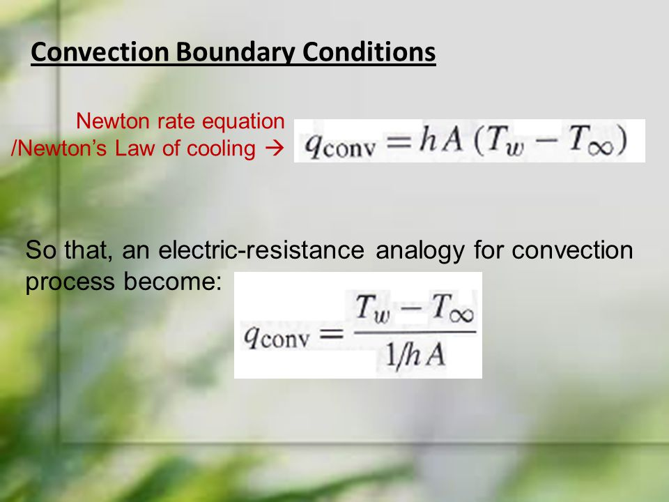 Convection Boundary Conditions