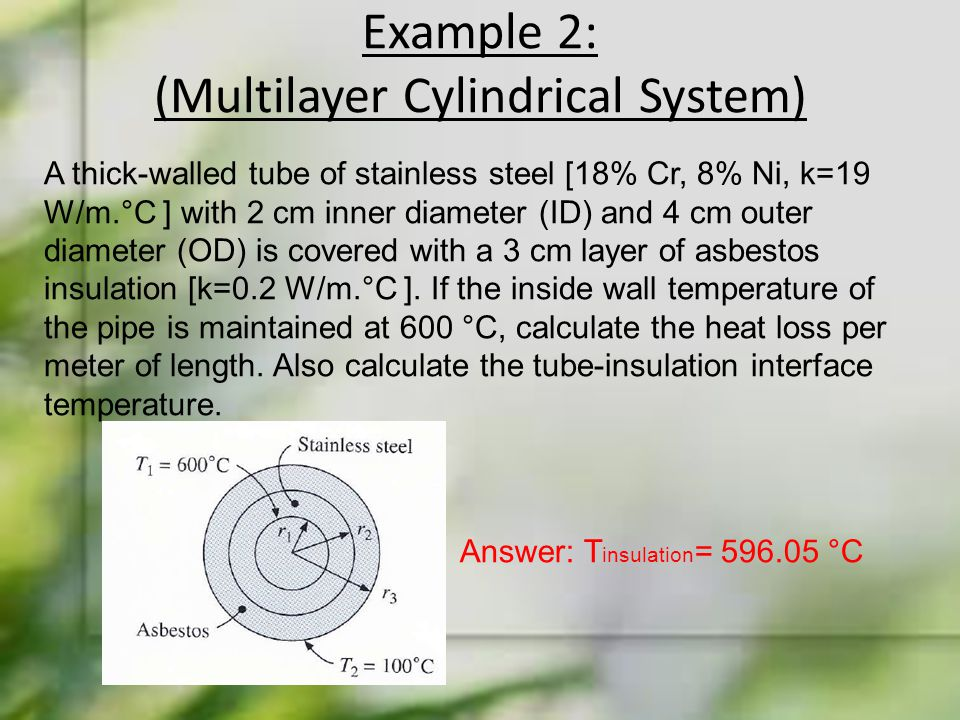 Example 2: (Multilayer Cylindrical System)