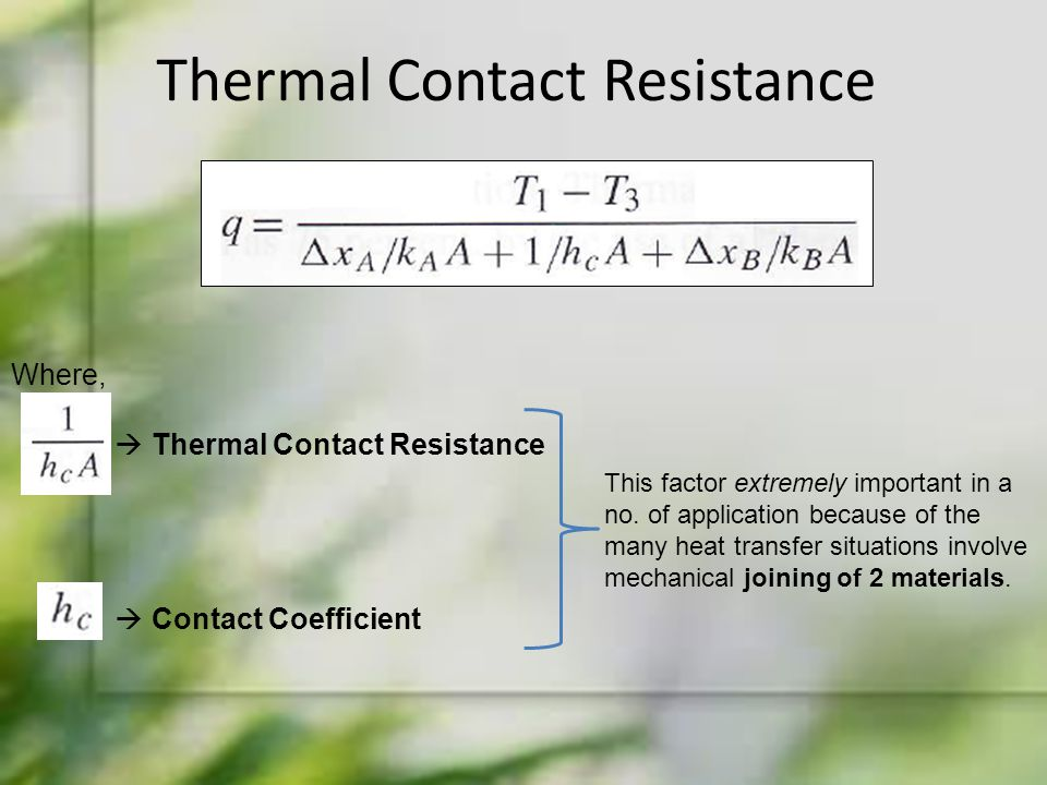 Thermal Contact Resistance