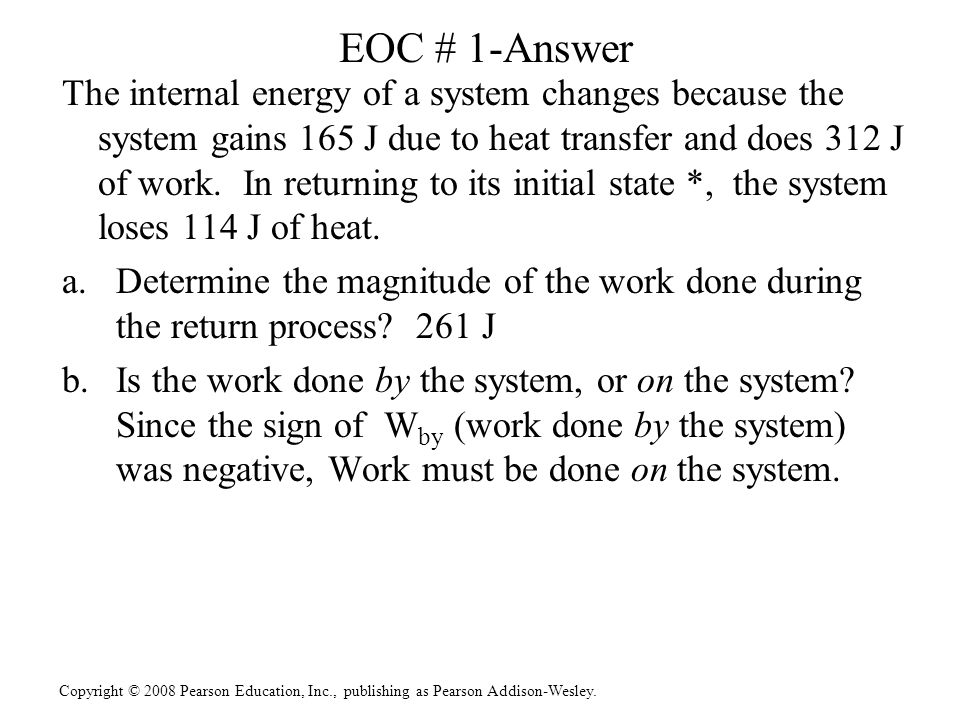 EOC # 1-Answer