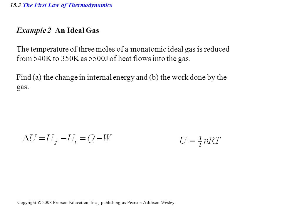 15.3 The First Law of Thermodynamics
