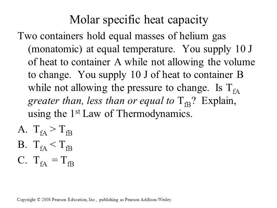 Molar specific heat capacity