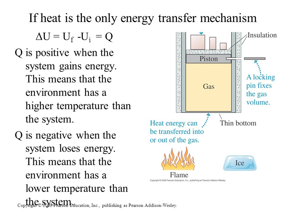 If heat is the only energy transfer mechanism