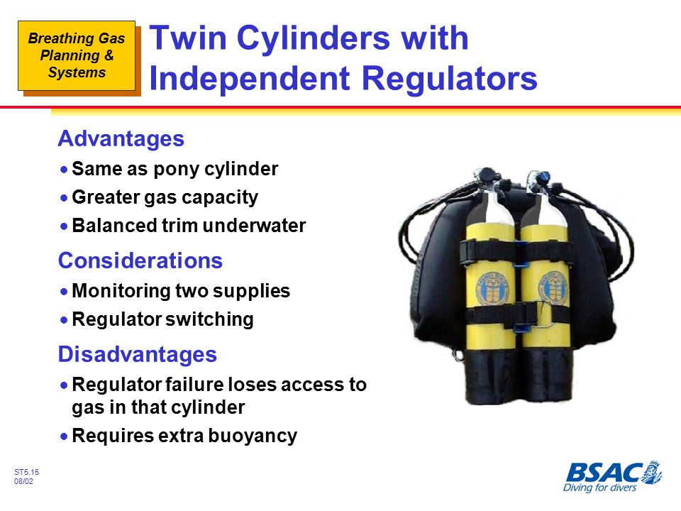 Twin Cylinders with Independent Regulators