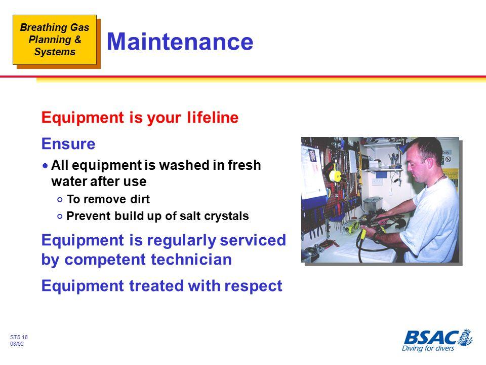 Maintenance Equipment is your lifeline Ensure