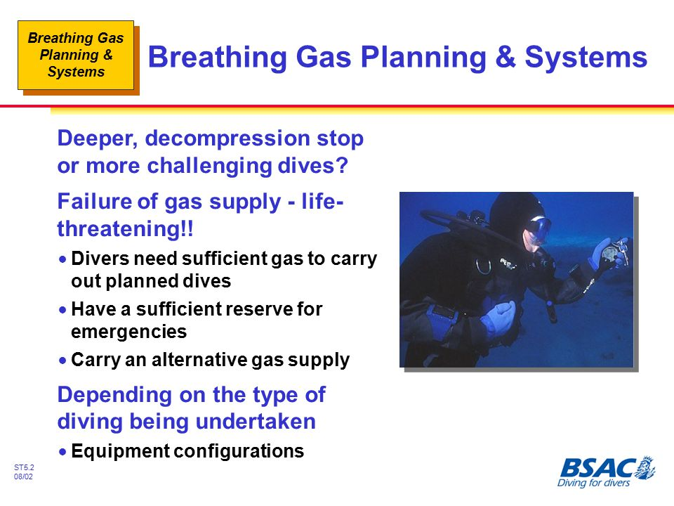 Breathing Gas Planning & Systems