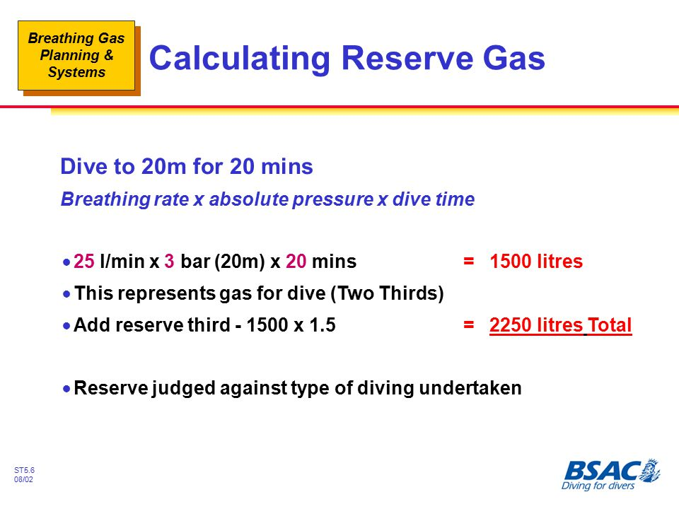 Calculating Reserve Gas