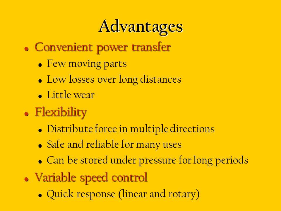 Advantages Convenient power transfer Flexibility