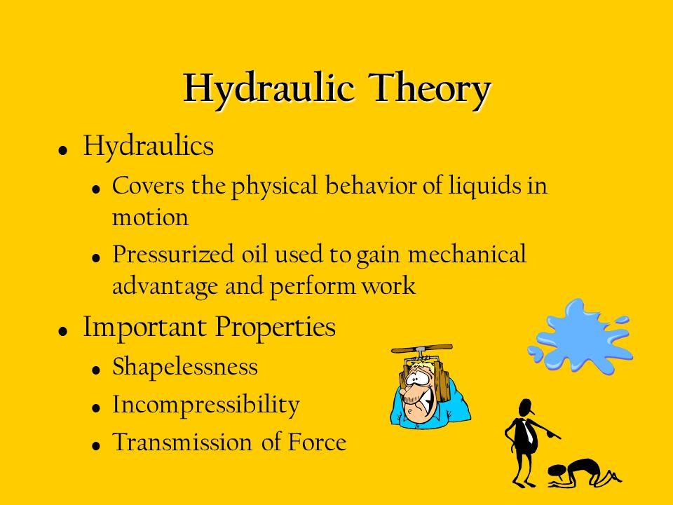 Hydraulic Theory Hydraulics Important Properties