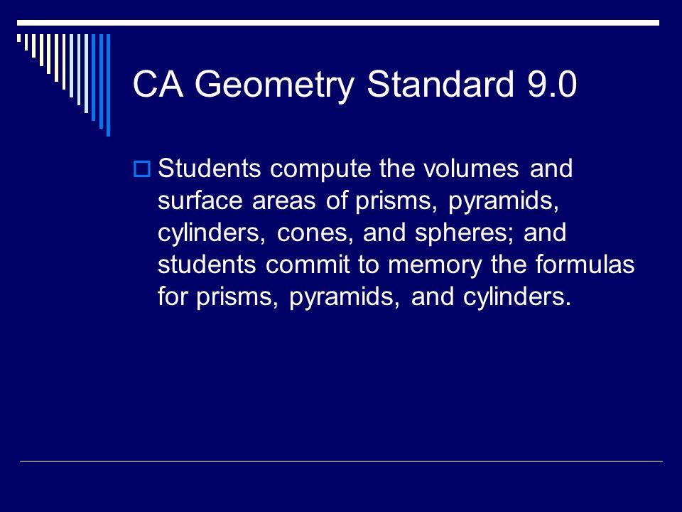 CA Geometry Standard 9.0