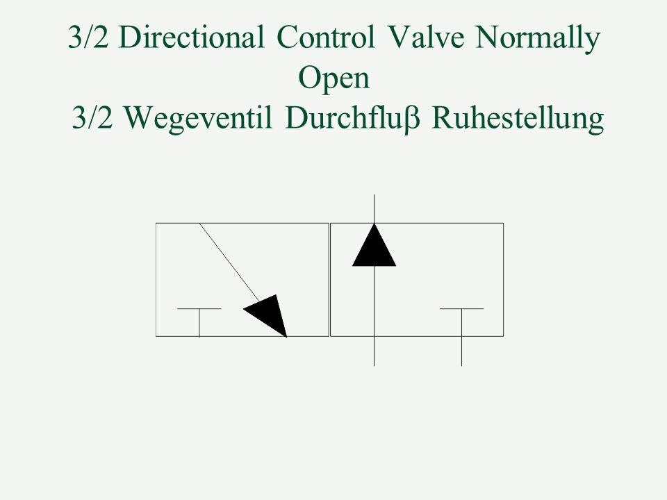 3/2 Directional Control Valve Normally Open 3/2 Wegeventil Durchflub Ruhestellung