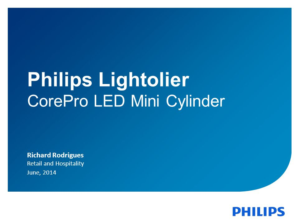 Philips Lightolier CorePro LED Mini Cylinder Richard Rodrigues