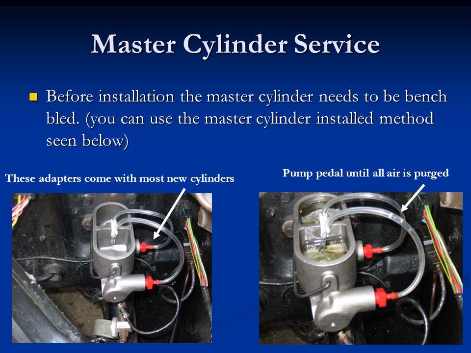 Master Cylinder Service