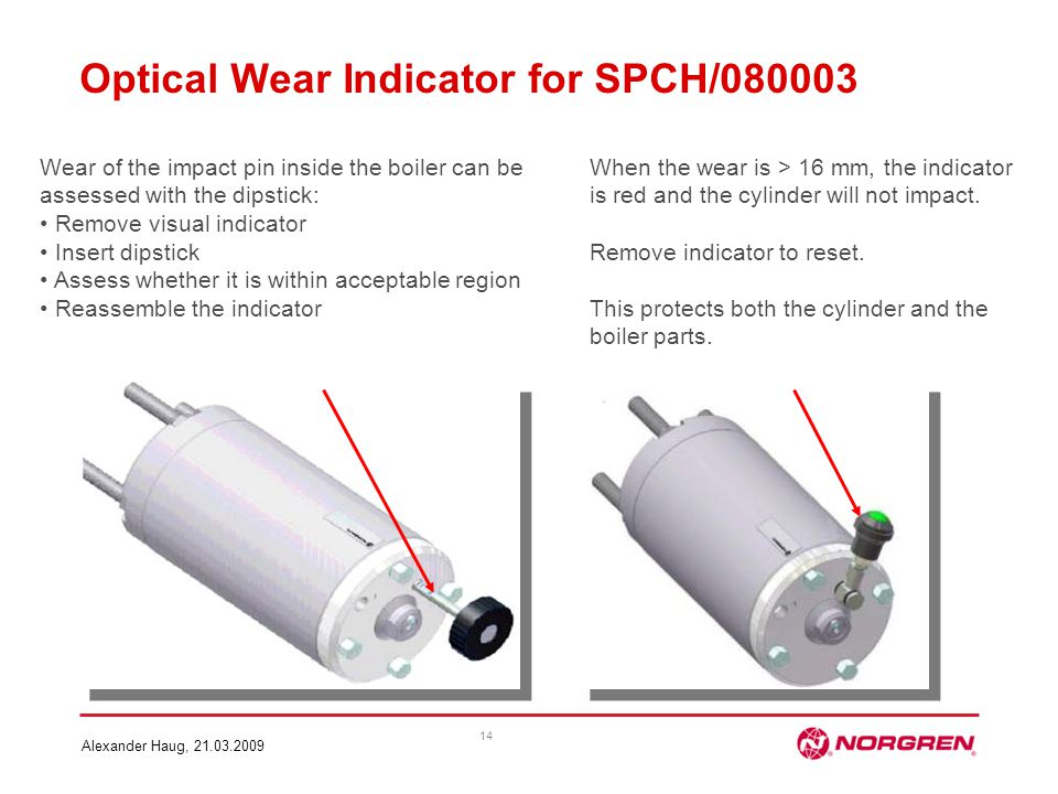 Optical Wear Indicator for SPCH/080003