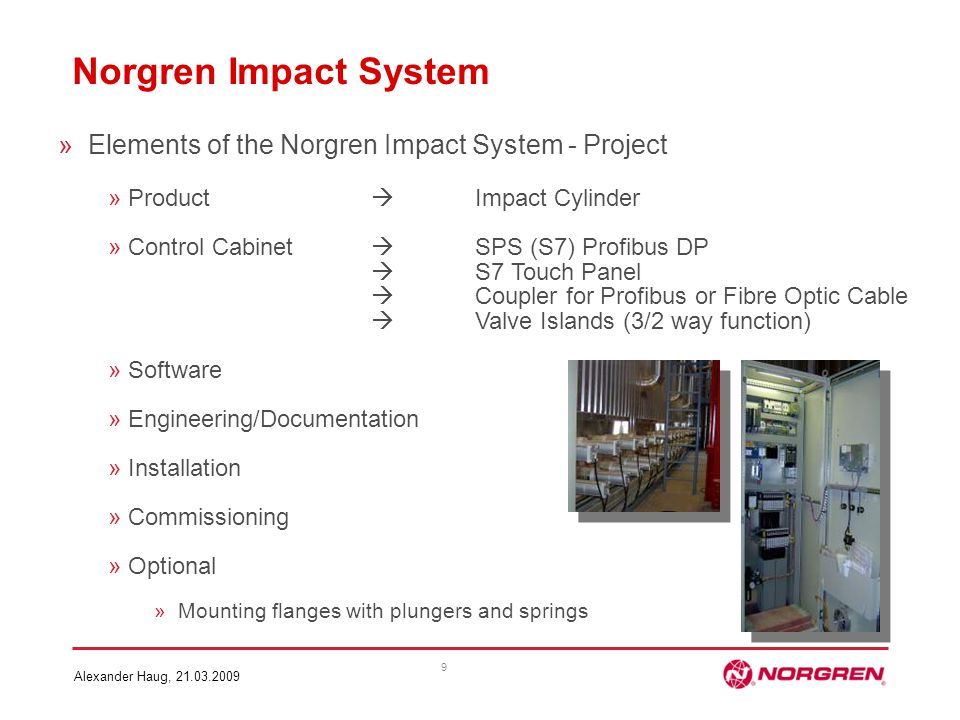 Norgren Impact System Elements of the Norgren Impact System - Project