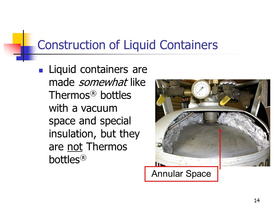 Construction of Liquid Containers