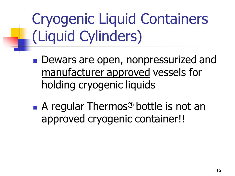 Cryogenic Liquid Containers (Liquid Cylinders)