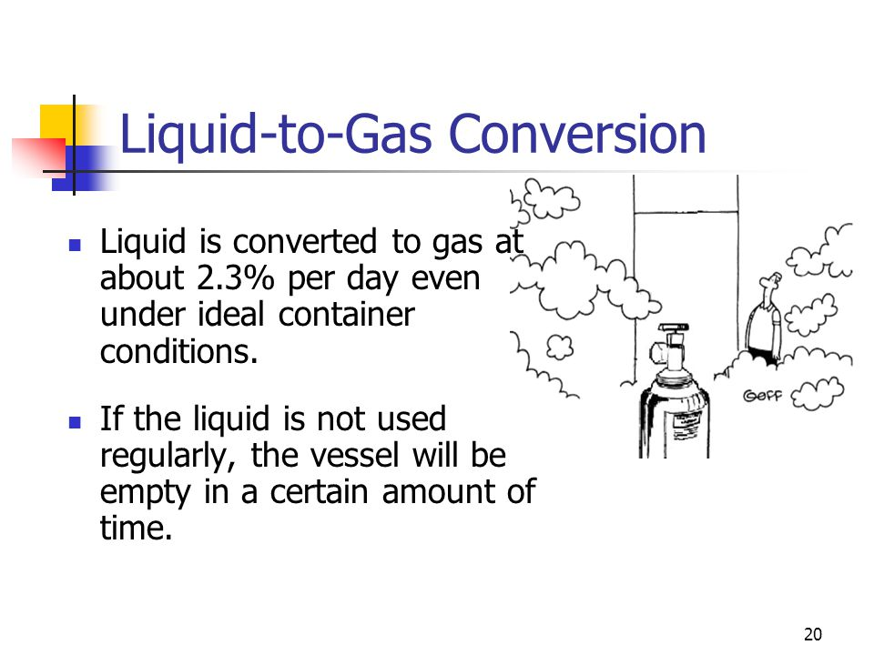 Liquid-to-Gas Conversion