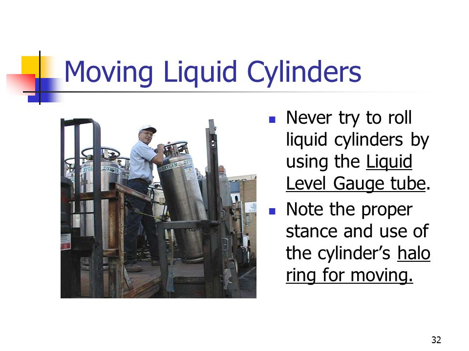 Moving Liquid Cylinders