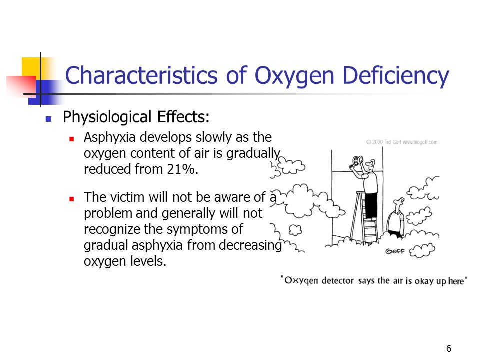 Characteristics of Oxygen Deficiency