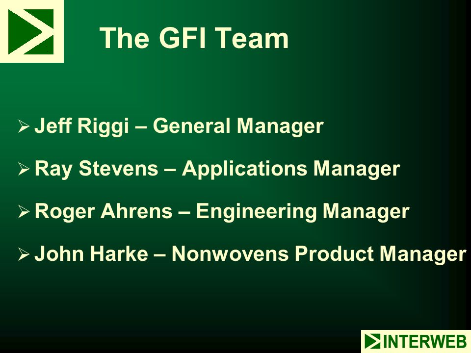 The GFI Team Jeff Riggi – General Manager