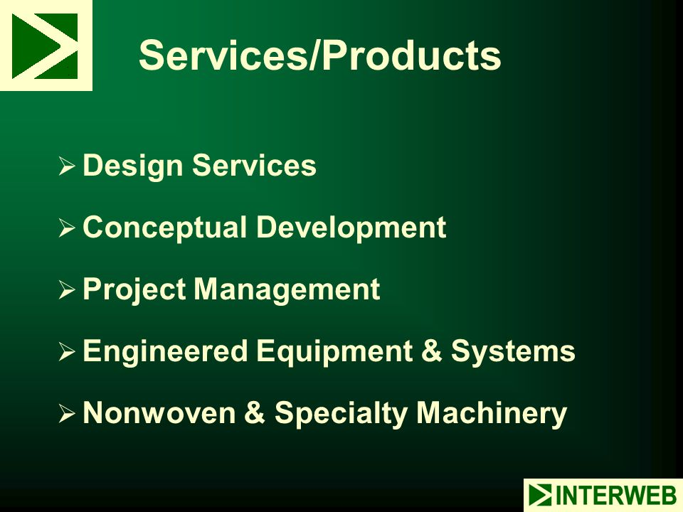 Services/Products Design Services Conceptual Development